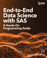 End to End Data Science with SAS PDF