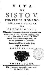 Vita di Sisto v. pontefice romano: Volume 3