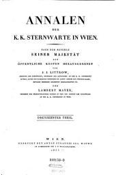 Annalen der k.k. Sternwarte in Wien ... hrsg. von J. J. Littrow, C. L. von Littrow und F. Schaub