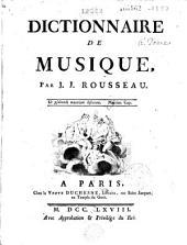 Dictionnaire de musique, par J. J. Rousseau
