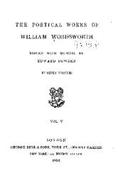 The Poetical Works of William Wordsworth: Volume 5