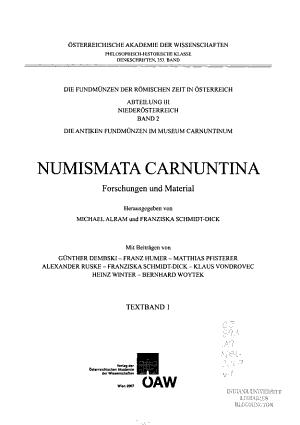 Numismata Carnuntina