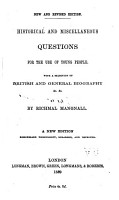 Historical and Miscellaneous Questions for the Use of Young People PDF