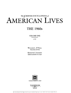 The Scribner Encyclopedia of American Lives  A L PDF