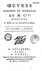 Oeuvres badines et morales de M*** (Jacques Cazotte).