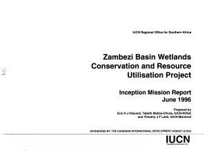 Zambezi Basin Wetlands Conservation and Resource Utilisation Project PDF