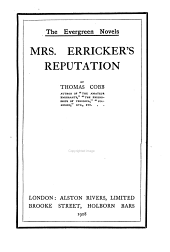 Mrs. Erricker's reputation. (Popular ed.).