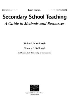 Secondary School Teaching PDF
