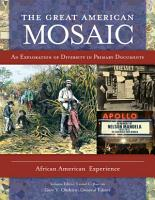 The Great American Mosaic  An Exploration of Diversity in Primary Documents  4 volumes  PDF