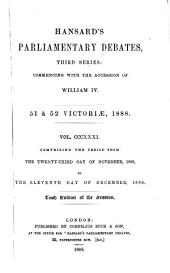 HANSARD'S PARLIAMENTARY DEBATES, THIRD SERIES: COMMENCING WITH THE ACCESSIO OF WILLIAM IV.