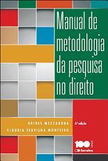 MANUAL DE METODOLOGIA DA PESQUISA NO DIREITO PDF