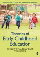 Theories of Early Childhood Education PDF