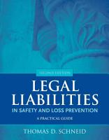 Legal Liabilities in Safety and Loss Prevention PDF