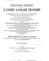 Dictionnaire historique de l'ancien langage françois: ou Glossaire de la langue françoise depuis son origine jusqu'au siècle de Louis XIV, Volume4