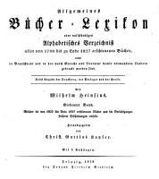 Allgemeines B  cher Lexikon  Bd  1822 27  Hrsg  von C  G  Kayser  1828 29  2 pt  in 1 v PDF