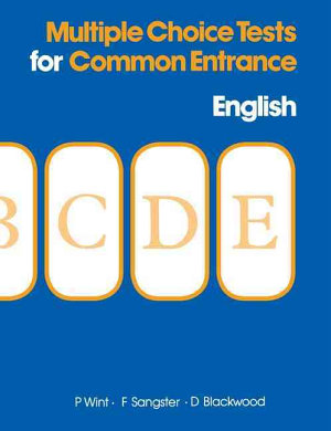 Multiple Choice Tests for Common Entrance   English