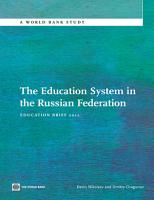 The Education System in the Russian Federation PDF