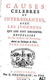 Causes celebres et interessantes, avec les jugemens qui les ont decidees: Volume12