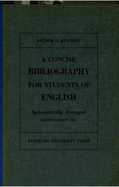 Download A Concise Bibliography for Students of English Book