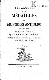 Catalogue des médailles et monnoïes antiques du cabinet de feu Monsieur Quintus Icilius