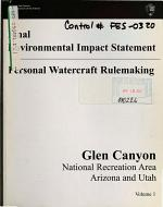 Glen Canyon National Recreation Area (N.R.A), Personal Watercraft Rule-making