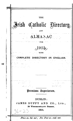 The Irish Catholic Directory and Almanac for     with Complete Directory in English PDF