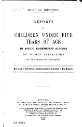 Reports on Children Under Five Years of Age in Public Elementary Schools