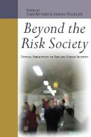 Beyond The Risk Society  Critical Reflections On Risk And Human Security PDF