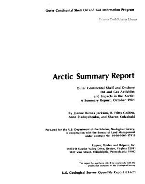 Arctic Summary Report Program PDF