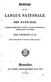 Etudes de la langue nationale des Pays-Bas