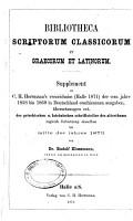 Bibliotheca philologica verzeichniss der vom Jahre 1852 bis mitte 1872       PDF