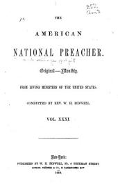 The National Preacher and Village Pulpit: Original--monthly. From Living Ministers of the United States, Volume 1