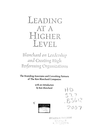 Leading at a Higher Level PDF