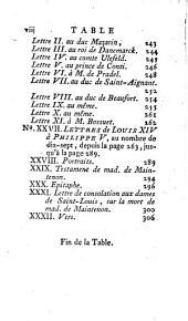 Mémoires et lettres de Mme de Maintenon: Volume6