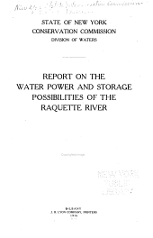 Report on the water power and storage possibilities of the Raquette River