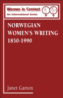Norwegian Women's Writing 1850-1990
