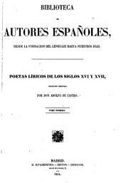 Poetas líricos de los siglos XVI y XVII: Volumen 32