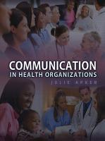 Communication in Health Organizations PDF