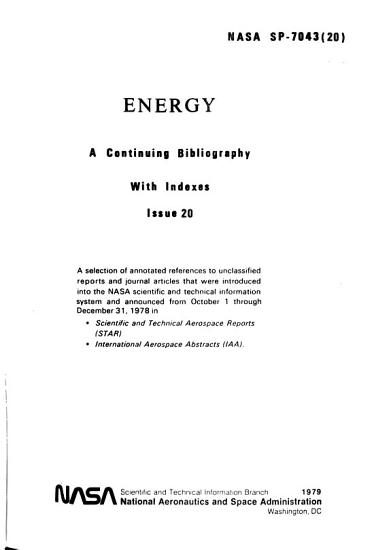 Energy  a Continuing Bibliography with Indexes PDF