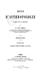 Revue d'anthropologie: Volume 8