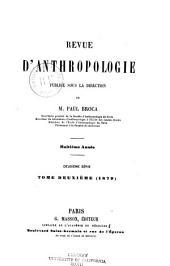 Revue d'anthropologie: Volume8
