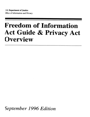 Freedom of Information Act Guide and Privacy Act Overview   1996  PDF