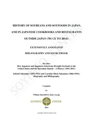History of Soybeans and Soyfoods in Japan  and in Japanese Cookbooks and Restaurants outside Japan  701 CE to 2014
