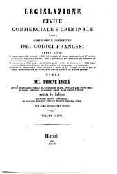 *Comentario e compimento dei codici francesi: 6: Codice civile. Libro terzo