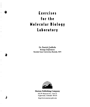 Exercises for the Molecular Biology Laboratory PDF