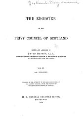The Register of the Privy Council of Scotland...