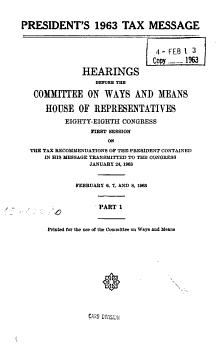 President s 1963 Tax Message PDF