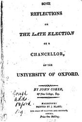 Some reflections on the late election of a chancellor of the University of Oxford