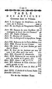 Choix littéraire: Volumes17à18