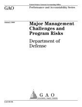 Major management challenges and program risks Department of Defense.